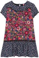 Desigual Printed bi-material dress