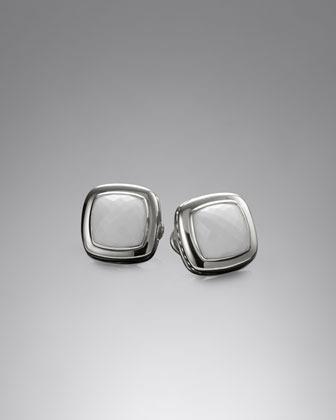 David Yurman Albion Earrings with White Agate