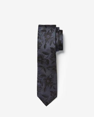 Express Narrow Floral Silk Tie
