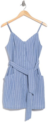 Lost + Wander Dulce Striped Tie Waist Mini Dress