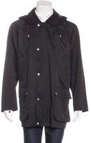 Burberry Nova Check-Lined Hooded Coat