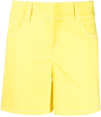 Boutique Moschino High-Waisted Cotton Shorts
