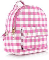 Skinnydip **pink mini gingham backpack