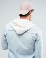 Asos Baseball Cap In Peached Finish In Pink