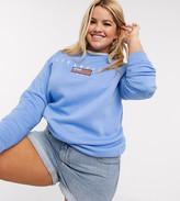 Daisy Street Plus plus sweatshirt with vintage los angeles embroidery