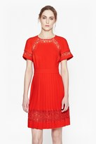 French Connection Arrow Lace Pleated Dress