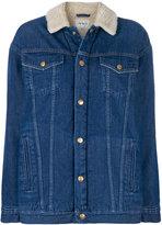 Carhartt denim jacket with shearling collar