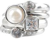 Pearl & Rhinestone Ring Set