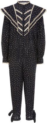 Etoile Isabel Marant Realia Lace-Trimmed Cotton Jumpsuit