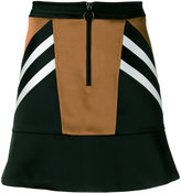 Neil Barrett panelled satin mini skirt