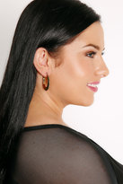 Yours Clothing Gold Beaten Chunky Hoop Earrings