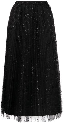 RED Valentino point d'Esprit tulle skirt