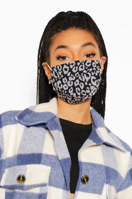 boohoo Leopard Print Adjustable Fashion Face Mask