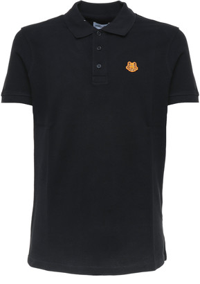 Kenzo Tiger Crest Black Polo Shirt