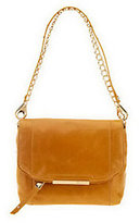 B. Makowsky As Is Jynx Glazed Leather Shoulder Bag
