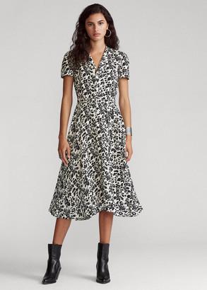 Ralph Lauren Floral Linen Midi Dress