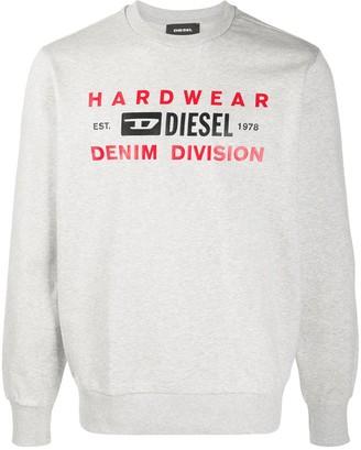 Diesel S-Girk-K10 rib-trimmed sweatshirt