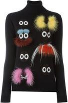 Fendi Bag Bugs sweater - women - Fox Fur/Polyamide/Mohair/Mink Fur - 40