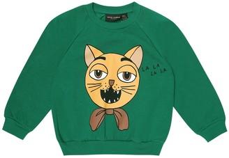 Mini Rodini Cat Choir printed cotton sweatshirt