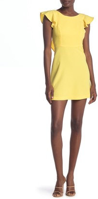 BCBGeneration Ruffle Cap Sleeve Mini Dress