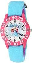 Disney Girl's 'Cinderella' Quartz Plastic and Nylon Automatic Watch, Color:Blue (Model: W002941)