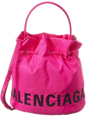 Balenciaga Wheel Small Drawstring Bucket Bag