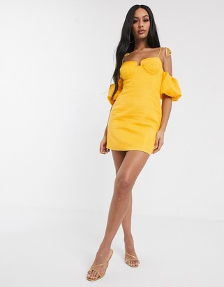 Significant Other dahlia puff sleeve detail mini dress