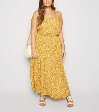 New Look Curves Ditsy Floral Cheesecloth Maxi Dress