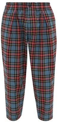 YMC Sylvian Tartan-check Cotton-blend Trousers - Mens - Multi