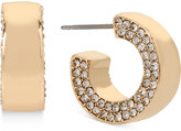 Kenneth Cole New York Gold-Tone Pavé Huggy Hoop Earrings