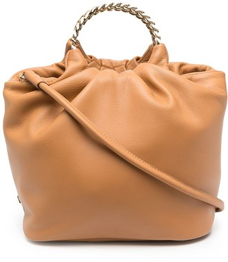 Casadei Slouched Leather Tote Bag
