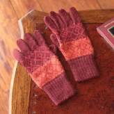 Handmade Alpaca Wool Patterned Gloves, 'Diamond of the Andes'