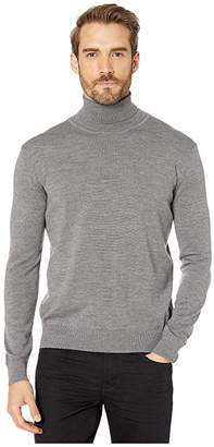 Bugatchi Bruges Sweater Long Sleeve Turtleneck (Platinum) Men's Clothing