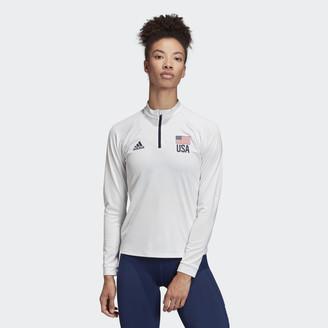 adidas USA Volleyball 1/4 Zip Tee