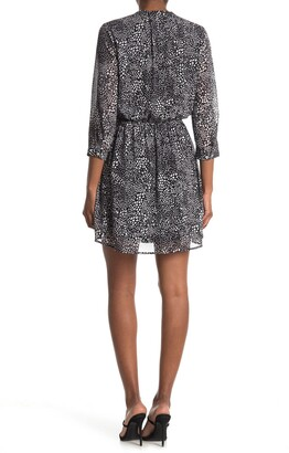 Dr2 By Daniel Rainn Split Neck 3/4 Sleeve Dress