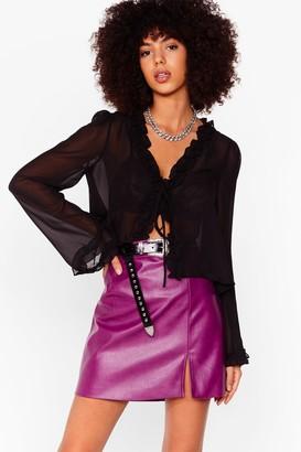 Nasty Gal Womens faux leather split leg mini skirt - Red - 6