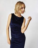 Nicole Miller Striped Velvet Lauren Dress