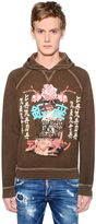 DSQUARED2 Hooded Geisha Washed Cotton Sweatshirt
