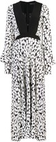 Proenza Schouler L/S Printed Tie Dress