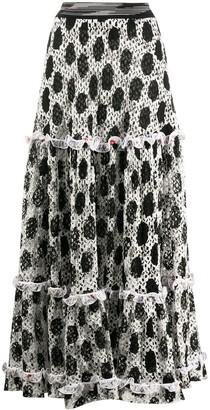 Missoni Knitted Polka Dot Skirt
