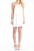 Donna Mizani Halter Mini Dress in White