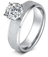 SMILEY Stainless Steel Rings Sequin With CZ Diamond Fashion Jewelry 7.0