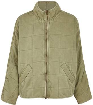 Free People Sage Quilted Cotton Jacket