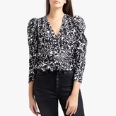 The Kooples Printed Long-Sleeved Blouse