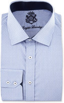 English Laundry Striped Long-Sleeve Dress Shirt, Blue