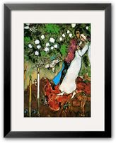 """Art.com Three Candles"""" Matted Framed Art Print by Marc Chagall"""