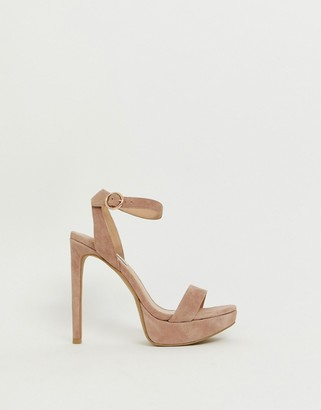 Steve Madden Stephie blush suede heeled sandals