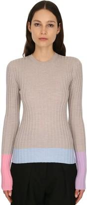 J.W.Anderson Merino Wool Rib Knit Sweater