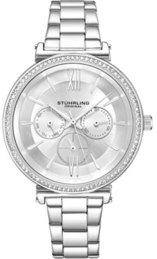 Stuhrling Original Women's Multi-Function, Silver Case and Bracelet, Silver Dial Watch