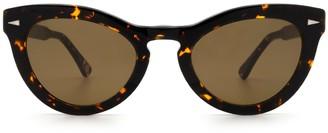 AHLEM Ile St Louis Yellow Turtle Sunglasses